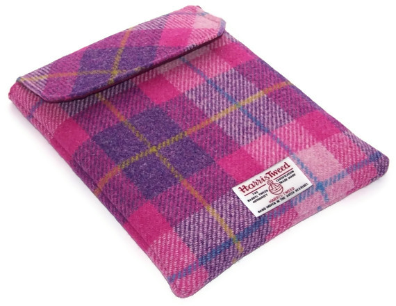 Harris Tweed Ipad Case Pink Sunset