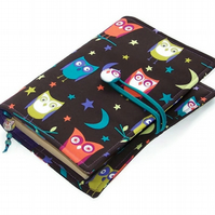 Fabric Book Cover Night Owls