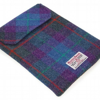Ipad Cover HARRIS TWEED Purple Heather