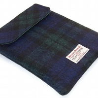 Harris Tweed Ipad Cover in Black Watch Tartan