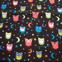 Half Metres of Night Owls Fabric by Michael Miller