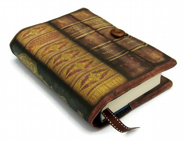 Handmade Book Cover from Antiquarian Books fabric Design C