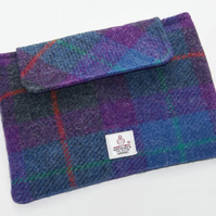Clutch Purse for Ipad Mini in Harris Tweed Purple Heather
