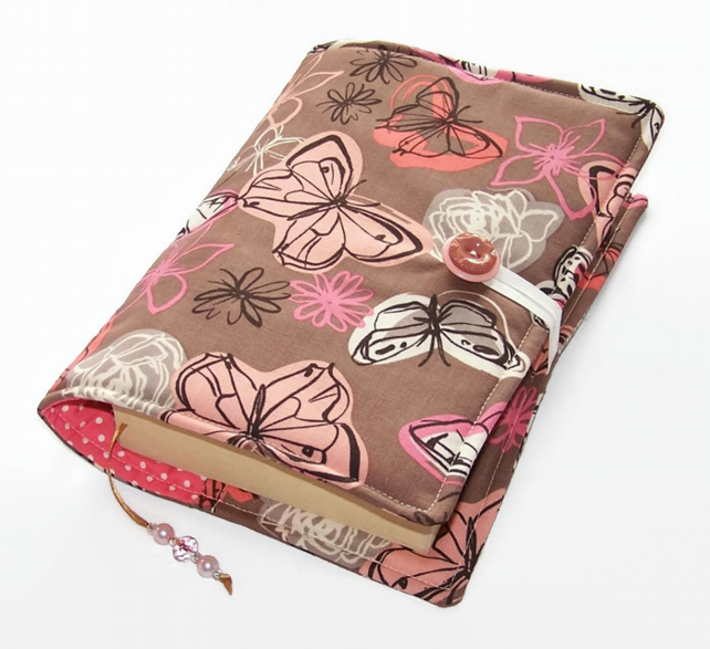 Handmade Scrapbook Cover : Handmade fabric book cover butterflies folksy