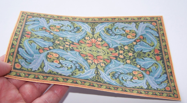 Miniature William Morris Carpet For 1 12 Scale Folksy