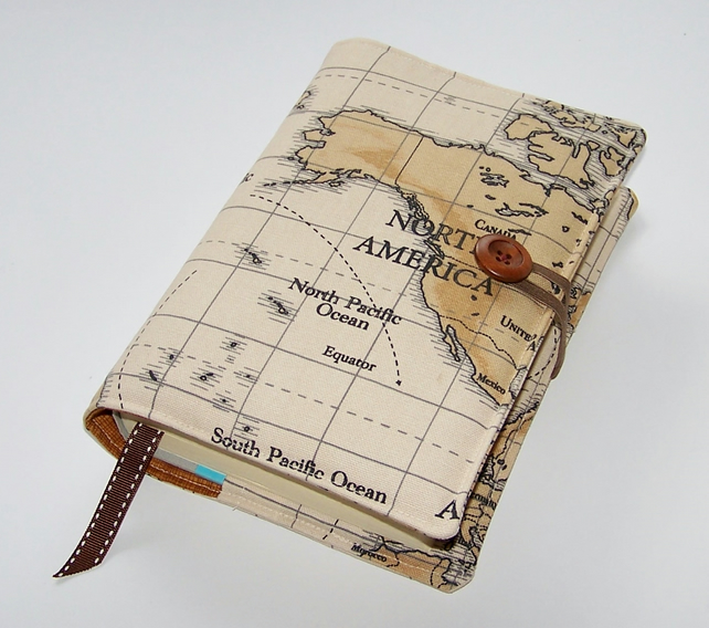 Handmade world map travel journal or book cover craftjuice handmade world map travel journal or book cover gumiabroncs Gallery