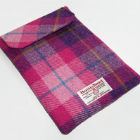 Handmade Ipad Air Case Harris Tweed Sunset Pink