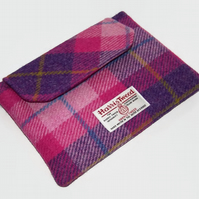 Ipad Mini Clutch Harris Tweed Tartan Sunset Pink