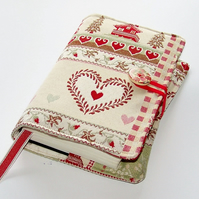Bible or Book cover in Gingerbread Hearts and Chalets