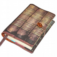 Handmade Book Jacket, Leather Antique Books fabric Design BB,