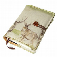 Handmade Book Cover, Highland Deer