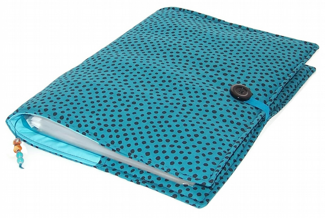 A4 Ring Binder File Cover DOTTY TEAL