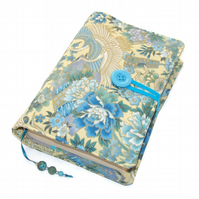 Handmade Book Cover Lotus Blossoms & Flying Cranes