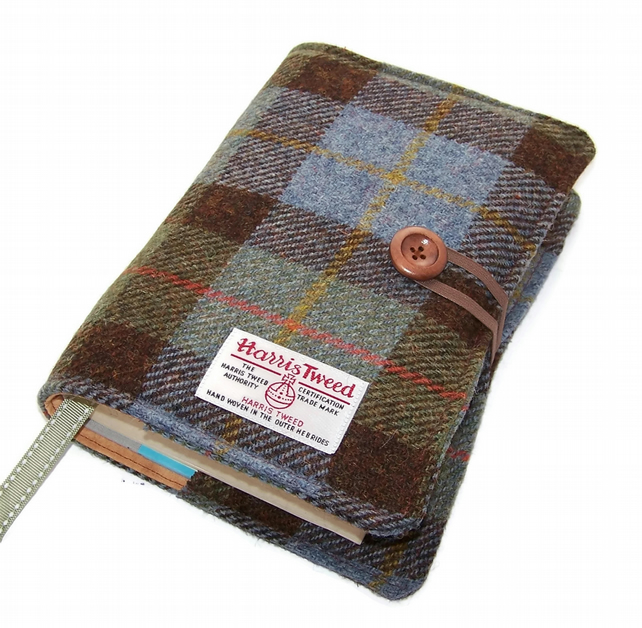 Harris Tweed Journal or Book Cover MacLeod Tartan