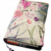 Large Bible Cover or Book Cover, Orchids in the Moonlight