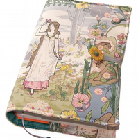 Large Book Cover, Bible Cover, Art Nouveau Butterfly Maiden, Fairy Tale Romance