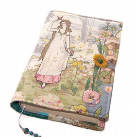 Fabric Book Cover, Art Nouveau Romance, Handmade Bible Cover, Butterfly Maiden