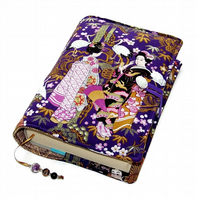 Handmade Book Cover, Suitable for Paperback or Hardback, Geisha Girls from Japan