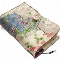 Large Bible Cover or Book Cover, Japanese Garden with Stream