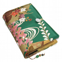 Large Bible Cover or Book Cover, Golden Wisteria on Gold