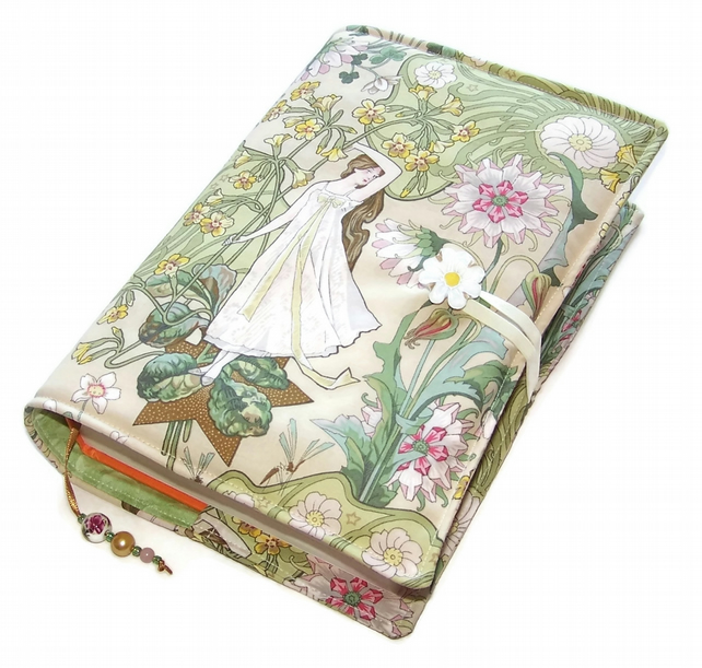 Large Book Cover, Bible Cover, for Hardback or Paperback Books, Daisy Girl