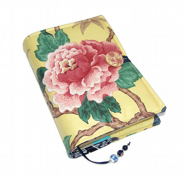Book Cover, Bible Cover, UK Seller, Oriental Dynasty Tree Peony