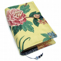 Large Bible or Book Cover, Oriental Dynasty Tree Peony & Butterfly
