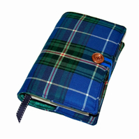 Padded Book Cover Using Nova Scotia Wool Tartan Fabric