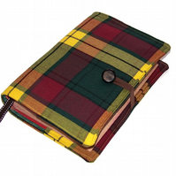 Book Cover in Scottish MacMillan Tartan Wool Fabric, for Hard or Paperback Books