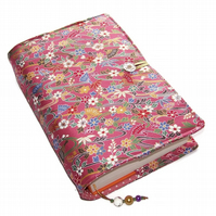 Large Fabric Bible Cover, Japanese Folding Fans & Flowers