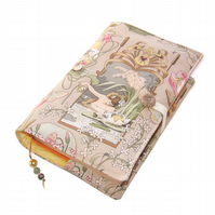 Book Cover, Handmade Bible Cover, Art Nouveau Princess and Frog Fairy Tale