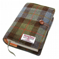 Large Book Cover, Harris Tweed, MacLeod Tartan, for Hardback or Paperback Books