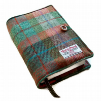 Large Book Cover, Harris Tweed, Autumn Days, for Hardback or Paperback Books