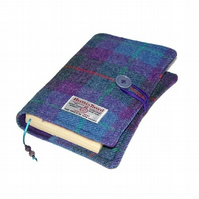 HARRIS TWEED Book Cover PURPLE HEATHER