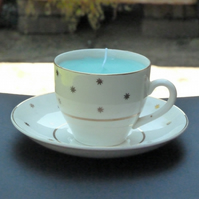 Candle in a tea cup
