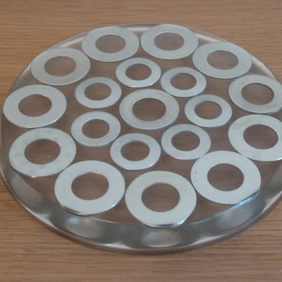 Round Resin Coaster - Circle design