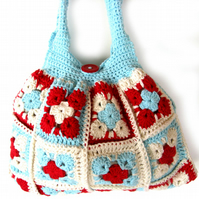 Crochet bag. Purse. Crochet granny bag in cotton.