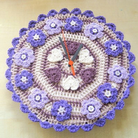 Quirky clock crochet pattern. Photo tutorial. PDF download.