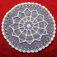 Large crochet mandala. Crochet doily. Crochet table centre.