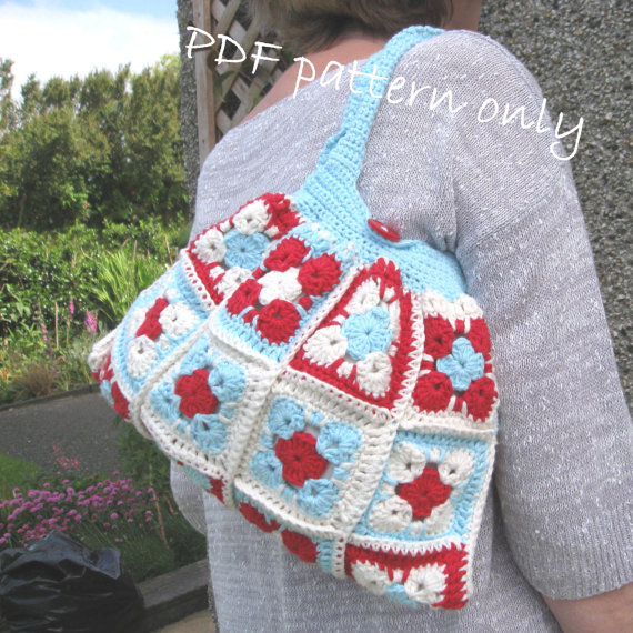 Pattern for Crochet bag. PDF crochet pattern. Crochet bag pattern and tutorial.