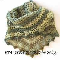 Pattern. Crochet pattern. Crochet shawl or wrap.  Photo tutorial.