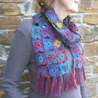 Scarf. Warm, cuddly scarf pattern. PDF crochet pattern. Photo tutorial.