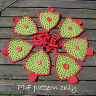 Christmas decorations. 5 crochet patterns. Email PDF download.