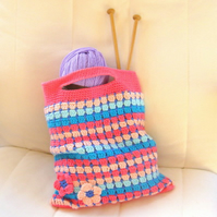 Pattern. PDF crochet pattern. Tote bag. Market bag pattern and tutorial.