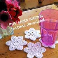 Pattern. Photo tutorial.  Crochet coaster and hanging decoration pattern.
