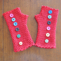 PDF pattern only. Crochet photo tutorial for fingerless gloves.