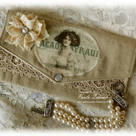 Vintage Linen and Lace purse