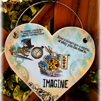 Alice Wooden heart hanging