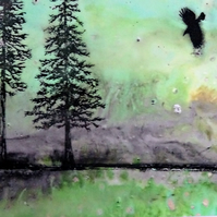 Giclee Print - Crow - Trees - Original - Scotland