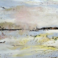 Original Encaustic Painting - Scottish Coastline - Seascape